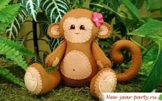Игрушка обезьянка своими руками: схема с описанием