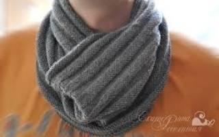 Мужской шарф спицами: английская резинка в своей красоте