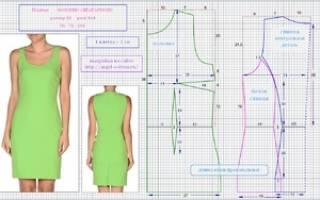 Выкройка платья футляр: построение своими руками, пошаговая инструкция с фото и видео