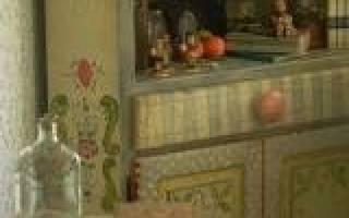 Роспись мебели своими руками: мастер класс в стиле прованс и трафареты красками