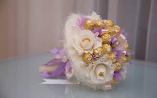 Букет на свадьбу своими руками: из гофрированной бумаги и из ткани