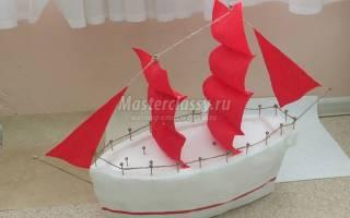 Корабль своими руками: пошаговое фото и мастер класс для начинающих