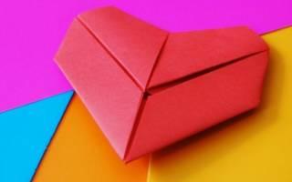 Сердце оригами из бумаги: схема и видео подборка совершенно бесплатно
