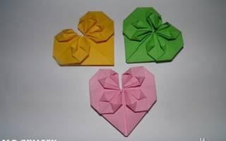Валентинка оригами своими руками: мастер класс и схема