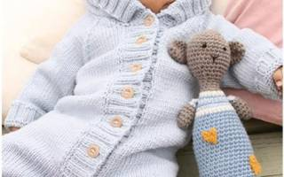 Бесшовный комбинезон на спицах: инструкция как вязать для новорожденных