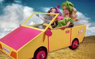 Как сделать из картона машину для кукол: для барби с видео поборкой