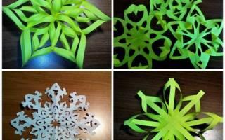 Бумажные снежинки своими руками со схемами: простые варианты с фото