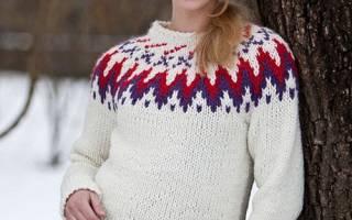 Схема вязания исландского свитера: делаем спицами