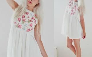 Платье с вышивкой: расскажем как сделать в украинском стиле