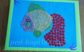 Картина из паеток своими руками: схемы для детей прилагаются