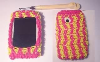 Чехол из резинок: видео уроки как можно сделать на крючке, на рогатке и на станке