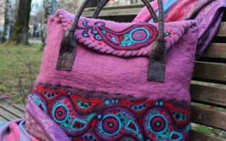 Валяние сумки из шерсти: мастер класс для новичков этого дела