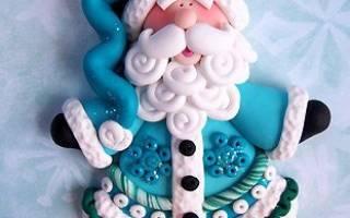 Дед мороз из соленого теста: делаем пошагово своими руками