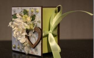 Скрапбукинг-коробочка для подарков своими руками (мк для начинающих)