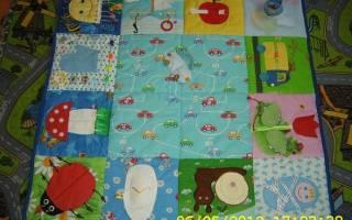 Как сделать детский развивающий коврик своими руками: фото и видео подборка