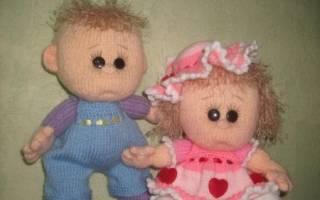 Вязаные куклы спицами: мастер-класс с описанием и схемой