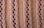 Ажурная резинка спицами: описание с фото и видео-подборка