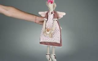 Выкройка тильда в натуральную величину: кот, заяц и кукла