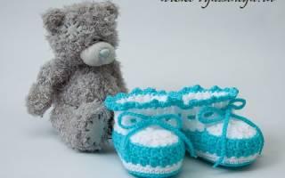 Вяжем крючком пинетки: видео уроки как делать кеды и туфельки