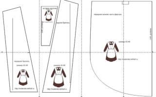 Выкройка школьного фартука: готовый чертеж, который можно скачать бесплатно