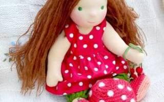 Мастер класс по вальдорфской кукле: выкройка с размерами в натуральную величину