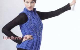 Вязание женских безрукавок: описание для начинающих в статье