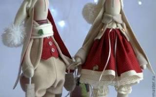 Платье для тильды зайца с выкройками: мастер класс