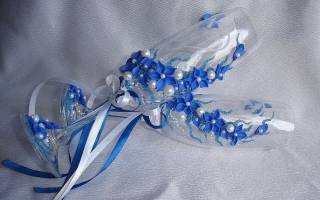 Свадебный фужер своими руками: жених и невеста быстро и просто