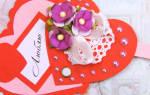 Объемная валентинка своими руками: схема из бумаги и шаблоны