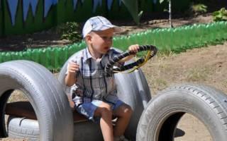 Детская площадка из шин: мастер класс с фото