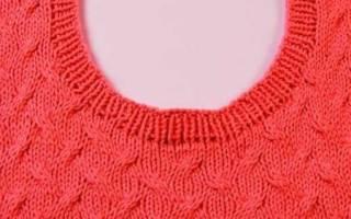 Вязание горловины спицами: мастер-класс для начинающих