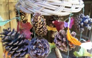 Поделка «золотая осень» с фото: оформление стола просто и быстро