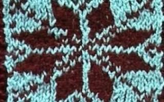 Скандинавские узоры для вязания спицами со схемами: орнаменты для новичков