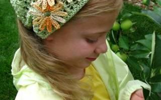 Косынка для девочки крючком: схема для начинающих для 1-3 и 4-6 лет