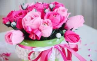 Букет роз из конфет: мастер класс своими руками