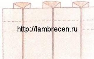 Как рассчитать бантовую складку: варианты на тюле, на юбке и на шторах
