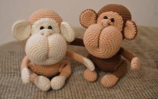 Амигуруми обезьяна: схема как делать крючком и спицами