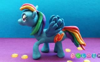 Как сделать пони из «дружба это чудо» из пластилина: поделка из май литл пони поэтапно