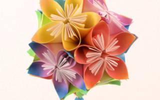 Цветок оригами из бумаги: пошаговая инструкция для начинающих