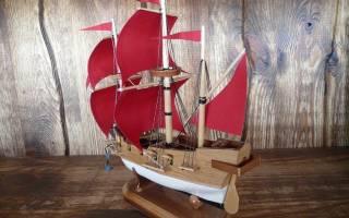 Корабли своими руками: поделки из разного материала