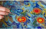Эбру: рисование на воде для начинающих и техника с фото